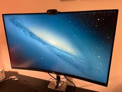 """Dell 32"""" Curved 4K UHD Monitor - Silver"""