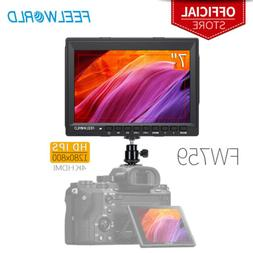 """FEELWORLD FW759 7"""" IPS Camera Field Video Monitor with Power"""