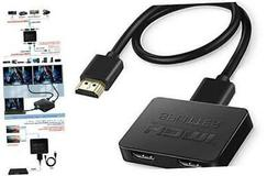 HDMI Splitter 1 in 2 Out, 4K HDMI Splitter for Dual Monitors