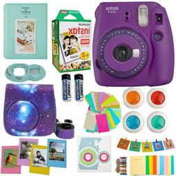 Fujifilm Instax Mini 9 Instant Camera Purple + 20 Sheet Film