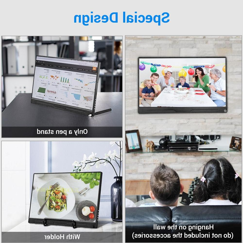 """13.3"""" Portable FHD 2160 IPS Type-C with Built-in Display"""