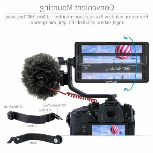 FEELWORLD F5 4K HDMI Camera DSLR with Arm for DJI