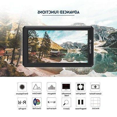 "Feelworld Pro 5.7"" IPS 4K HDMI Camera Monitor for DSLR"