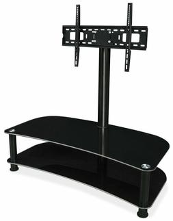 "Mount-It! Glass Shelf with TV Mount Stand Fits 32"" - 70"" Scr"