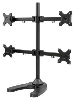 Mount-It! Quad Monitor Stand Desk Mount for LCD, OLED, 4K Mo