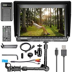 "Neewer NW74K 7"" Ultra HD 4K Camera Monitor Charging Kit, 128"